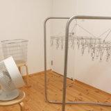 【無印良品】部屋干し&夜洗いのススメ【シンプルな室内干し洗濯アイテム】