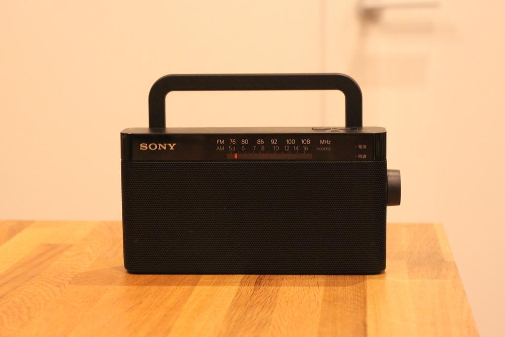 防災用ラジオにSONYのシンプルなラジオ ICF-306