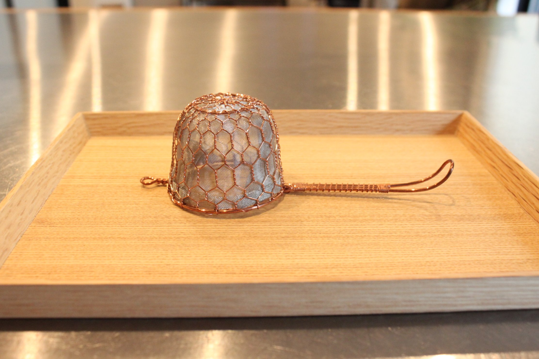 一人お茶時間が益々楽しくなる。京都辻和金網の茶漉し