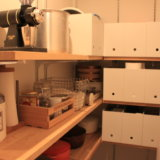 小さなパントリーを無印良品のファイルボックスで整理収納。IKEA(イケア)から無印へ替えたもの【WEB内覧会】