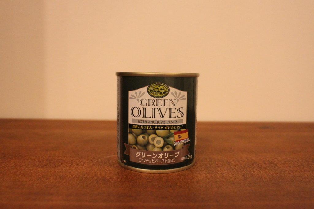 業務スーパー 缶詰グリーンオリーブ