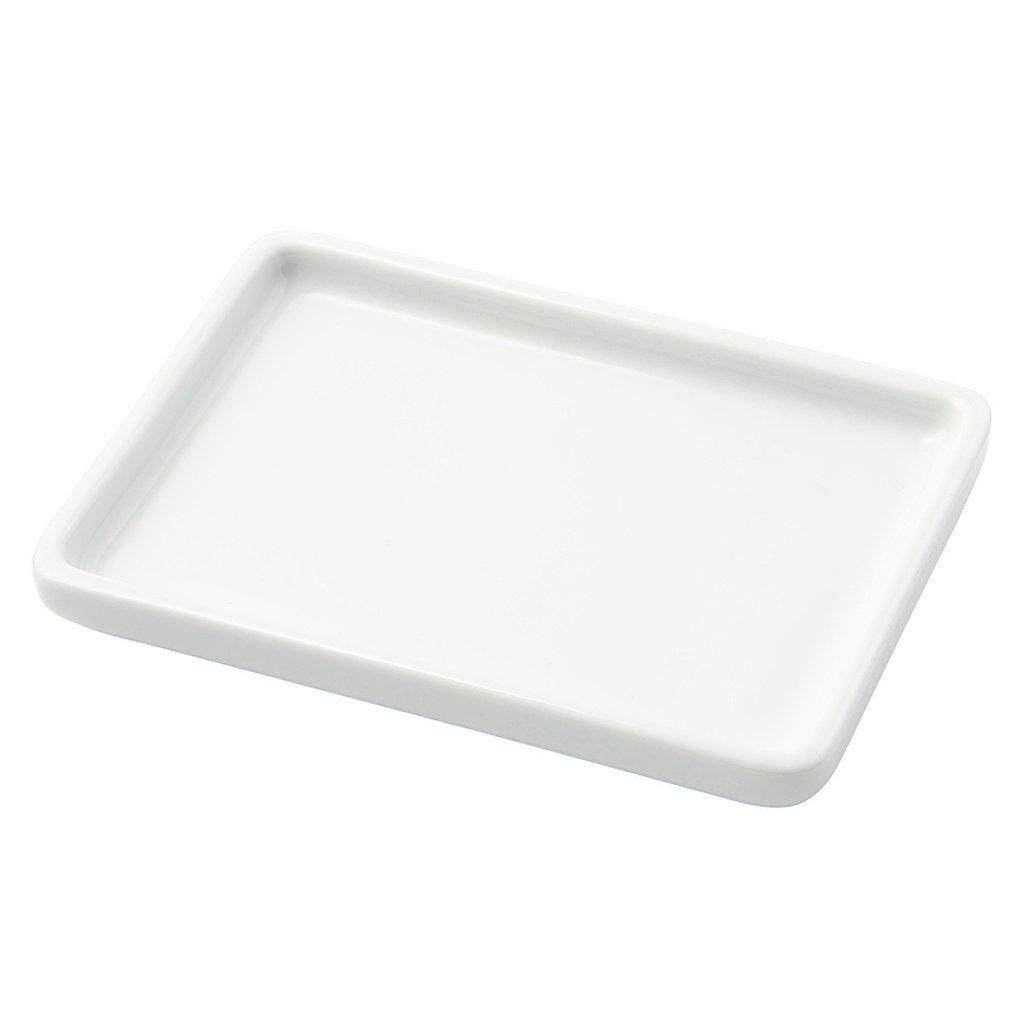 白磁トレー・小 約幅13×奥行9.5×高さ1.5cm