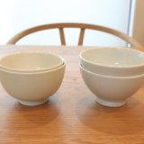 【東屋の花茶碗 土灰】と【無印良品の飯碗 青白釉】のお茶碗を買ったのでブログでご紹介♩