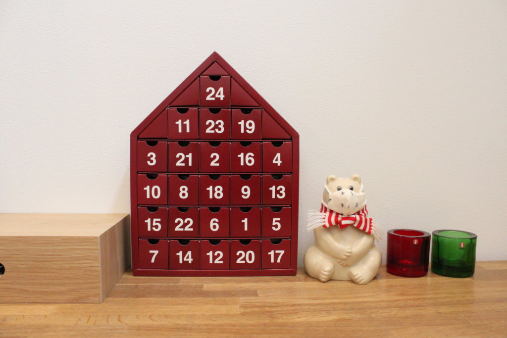 無印良品のカウントダウンカレンダー【アドベントカレンダー】でクリスマス♩お菓子は詰め替えて再利用できる!